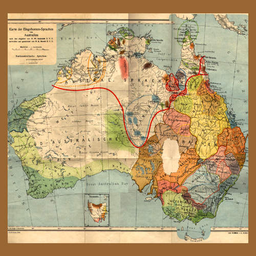 מפת השפות האבוריג'יניות, 1919