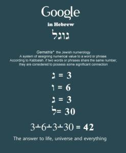 התשובה לחיים, ליקום ולכל השאר היא גוגל.